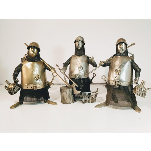 Vintage Metal Knight Figurines - Set of 3 For Sale - Image 13 of 13