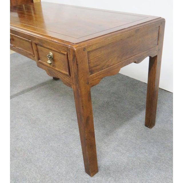Henredon French Country Henredon Oak Desk For Sale - Image 4 of 9