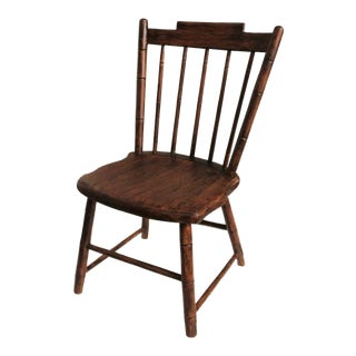 Early 19th Century N.E. Painted Child's Windsor Chair For Sale
