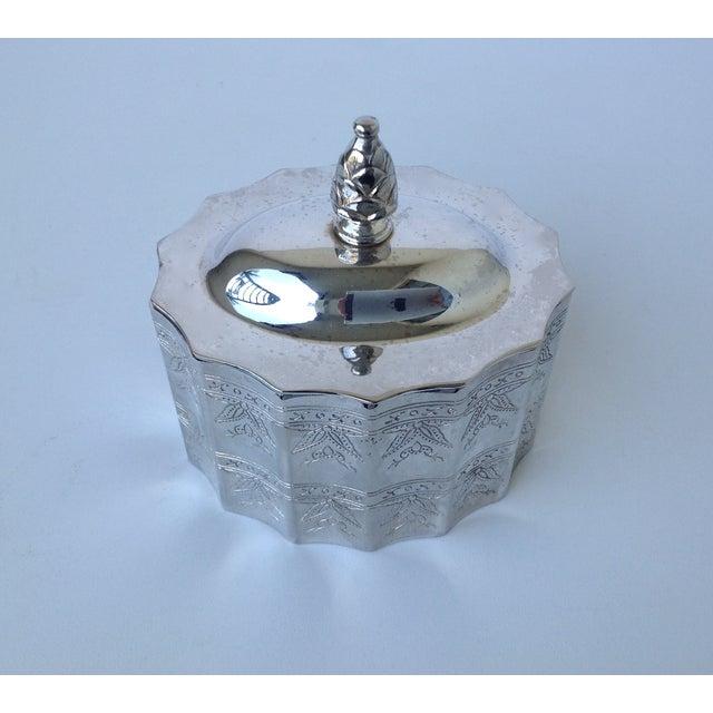 Silverplate Moorish Lidded Keepsake Box - Image 3 of 9