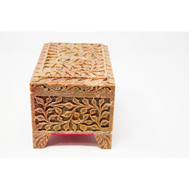 Hand-Carved Stone Jewelry Box Rajasthan, India For Sale - Image 10 of 13