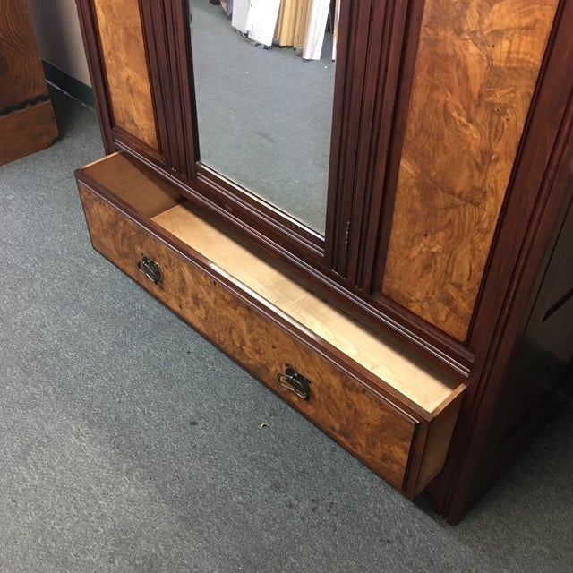Vintage Armoire With Mirrored Door - Image 11 of 11
