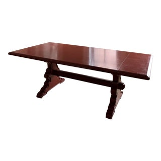 Red Lacquered Dining Table For Sale