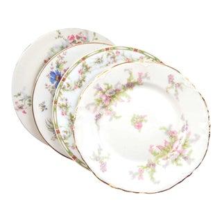 Vintage Mismatched Fine China Dessert Plates - Set of 4