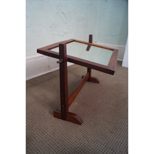 Brown Stickley Antique Mission Oak Shaving Mirror For Sale - Image 8 of 10