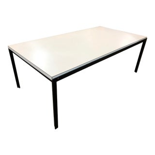 1950s Florence Knoll for Knoll Iron Framed + White Laminate Cocktail Table For Sale