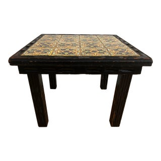 1920s Arts and Crafts California Tile Table For Sale