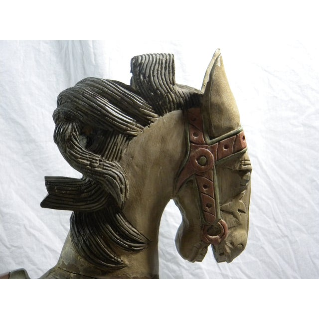 Large Indonesian Carved Horse - Image 4 of 6