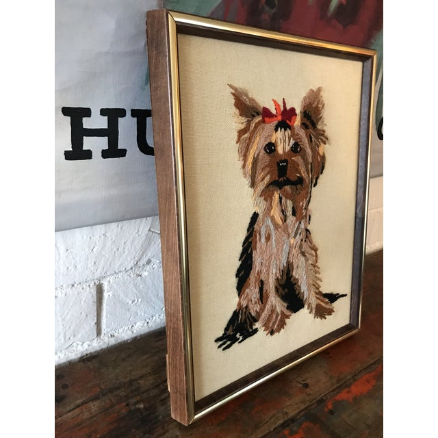 Handmade Framed Yorkie Dog - Image 7 of 10