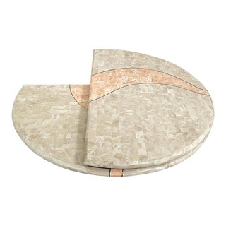 Tessellated Stone Swivel Coffee Table For Sale