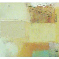 Composition Neck Facing Oil & Collage Painting - Image 2 of 3