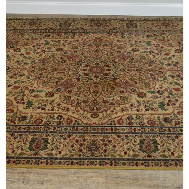Cream Karastan Tabriz Medallion Samovar Tea Wash 5'9 x 9' Rug For Sale - Image 8 of 12