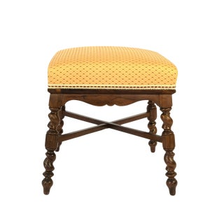 French Turned Walnut and Upholstered Stool, Circa 1870 For Sale