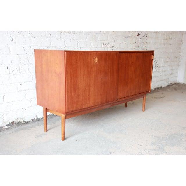 Danish Modern Teak Sideboard Credenza For Sale - Image 4 of 10