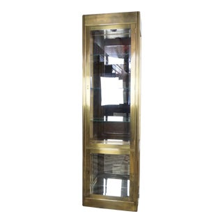 Mastercraft Brass Glass and Vitrine Display Cabinet For Sale