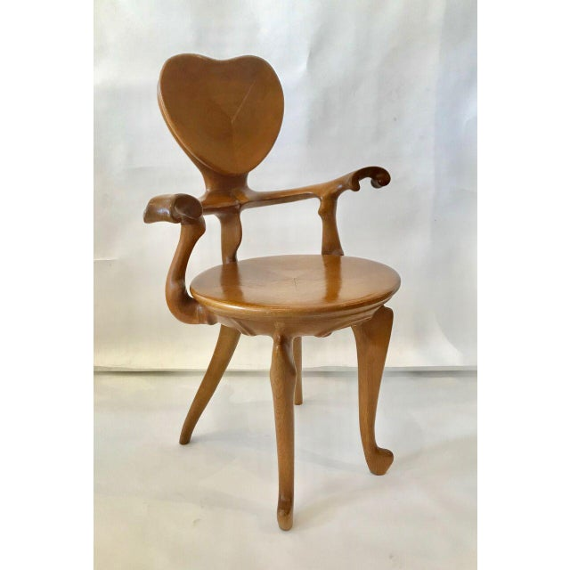 Brown Calvet Armchair by Antoni Gaudi For Sale - Image 8 of 8