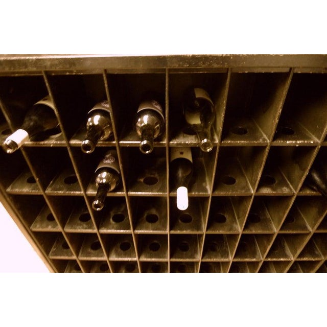 Storage Cabinet of Painted Steel as Wine Rack, Dvd, CD Storage, 72 Cubbies For Sale - Image 9 of 13