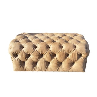 """The Hide's """"The Ultimate Otto""""Leather Tufted Ottoman For Sale"""