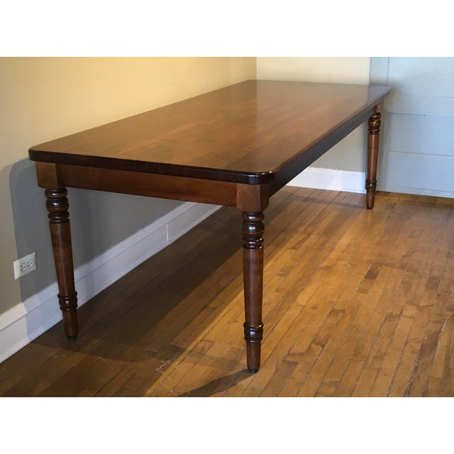 Late 20th Century 20th Century French Country Farmhouse Dining Table For Sale - Image 5 of 9