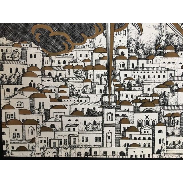"Fornasetti Piero Fornasetti ""Sole a Gerusalemme"" Silkscreen Print For Sale - Image 4 of 8"