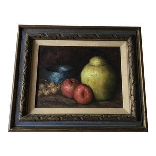 Vintage Framed Fruits & Vessel Still Life Painting