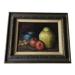 Vintage Framed Still Life Painting For Sale