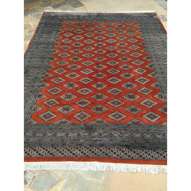 Red Rust/Cream Royal Bokhara Rug - 8′3″ × 11′3″ For Sale - Image 5 of 11