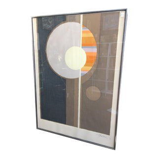 Large Op Art Serigraph by Steven Strickland 1970 Ed. 72/156 Mid Century Modern For Sale