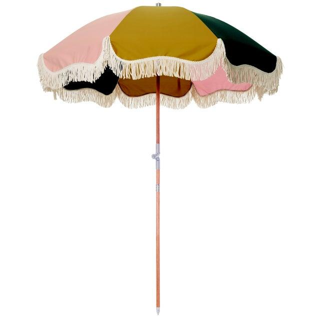 Contemporary Premium Beach Umbrella - Panel Cinque with Fringe For Sale - Image 3 of 3