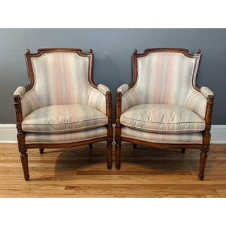 Late 19th Century French Louis XVI Bergere Chairs - a Pair Preview