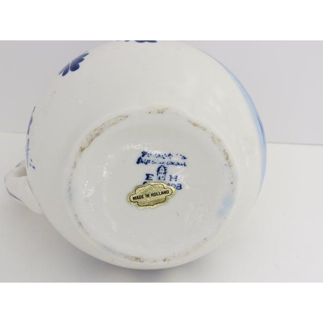 Ceramic Delft Blue & White Pitcher For Sale - Image 7 of 7