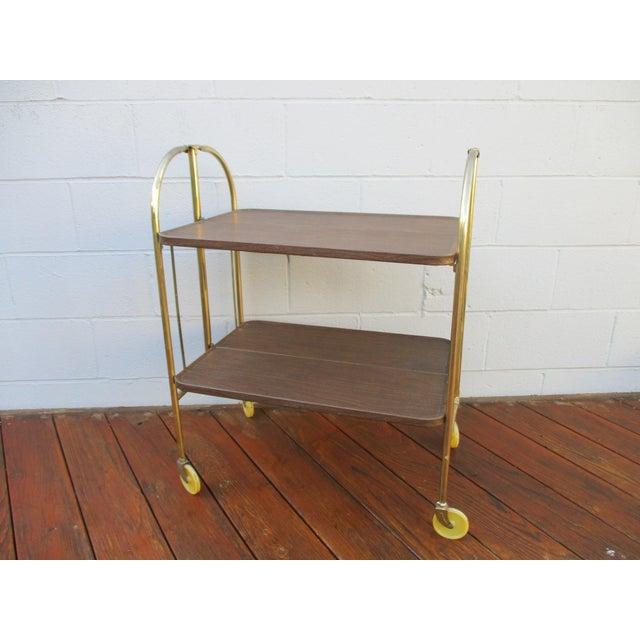 Folding Metal Bar Cart - Image 10 of 10