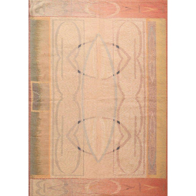 Hand-Knotted Contemporary Flat Weave Rug - 6′ × 8′5″ For Sale In New York - Image 6 of 6