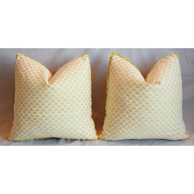 """Italian Mariano Fortuny Canestrelli Feather/Down Pillows 20"""" Square - Pair For Sale In Los Angeles - Image 6 of 13"""
