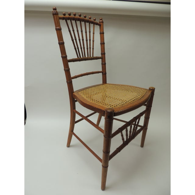 19th Century English Bamboo and Rattan Ballroom Chair For Sale - Image 4 of 8