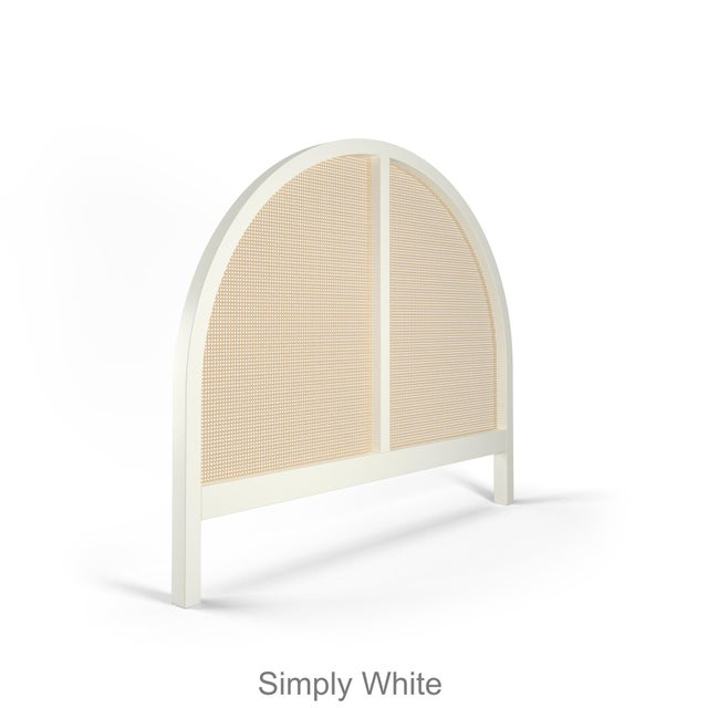 Eva, our arched cane headboard, available in Twin, Queen & King Available in any standard paint finish shown on our...