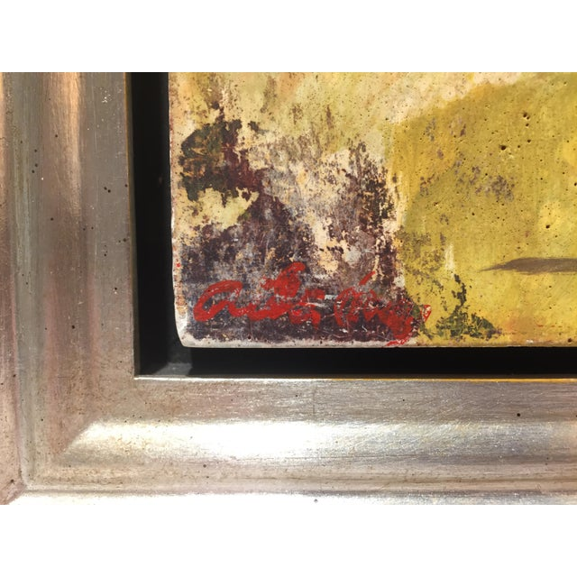 """Abstract Expressionism Fry Fresco """"Burning House"""", Contemporary Colorful Figurative Painting For Sale - Image 3 of 7"""