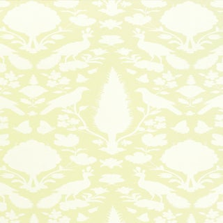 Sample - Schumacher Chenonceau Wallpaper in Bisque For Sale