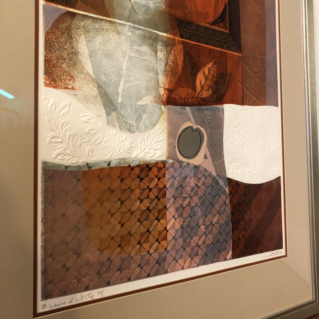 Copper Original Sunol Alvar Embossed Artist Proof Signed Lithograph Framed With Museum Glass For Sale - Image 8 of 12