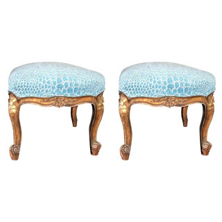 Pair of Louis XV Stools For Sale