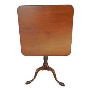Kittinger Colonial Williamsburg Cw-69 Mahogany Tilt Top Table For Sale