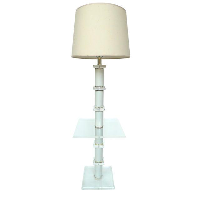 Mid-Century Lucite Floor Lamp - Image 1 of 4