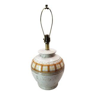 Vintage Mid Century Rosenthal Netter Pottery Lamp For Sale