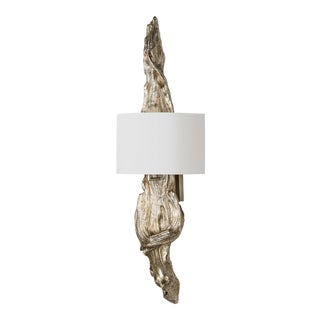 Driftwood Sconce (Ambered Silver Leaf) For Sale