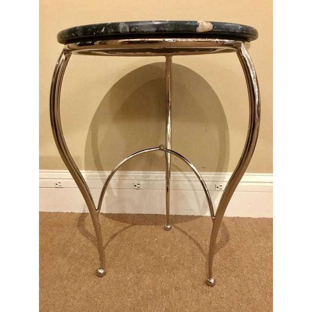 Contemporary Global Views Diminutive Side Table For Sale - Image 3 of 4