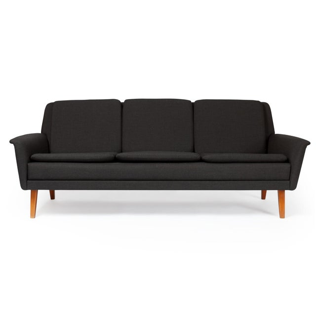 Folke Ohlsson Dux Danish Modern Black Sofa & Lounge Chair - 2 Pc. Set For Sale - Image 4 of 13