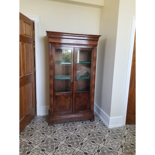 Brown Louis Phillippe Bookcase Vitrine For Sale - Image 8 of 12