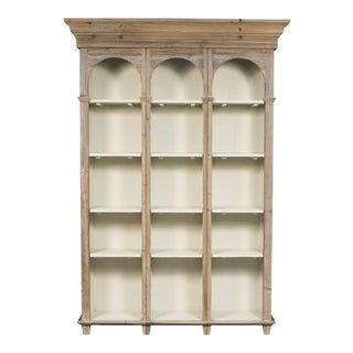 Sarreid Ltd. Pine Reading Room Cabinet For Sale