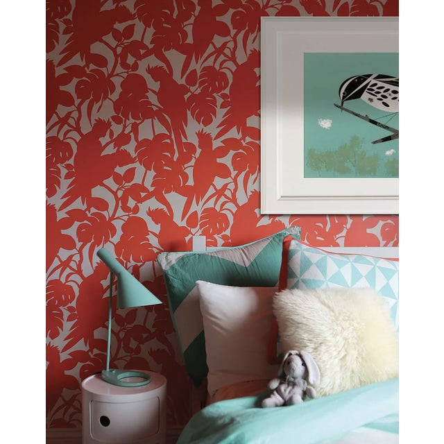2010s Florence Broadhurst Orange Cockatoo Wallpaper For Sale - Image 5 of 5