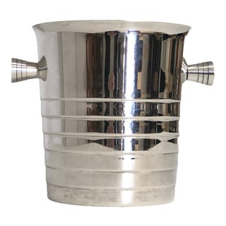 Vintage Christofle Silver Plated Champagne Ice Bucket/Wine Cooler For Sale